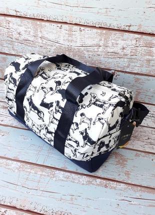 Небольшая спортивная, дорожная сумка, женская сумка с собачками5 фото
