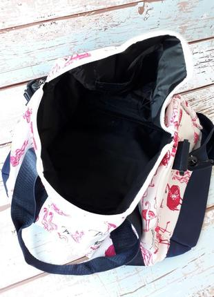 Небольшая спортивная, дорожная сумка, женская сумка с собачками6 фото