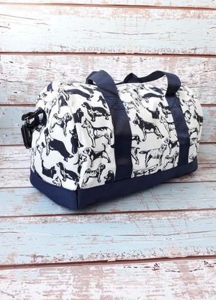 Небольшая спортивная, дорожная сумка, женская сумка с собачками1 фото