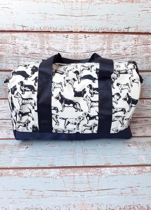 Небольшая спортивная, дорожная сумка, женская сумка с собачками3 фото