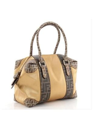 Винтажная сумка fendi boston zucca