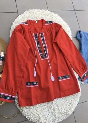 Натуральная вышиванка блуза блузка вишиванка