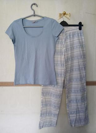 Натуральная пижама домашний костюм р.s