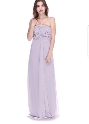 Вечернее платье бюстье в пол от h&m.