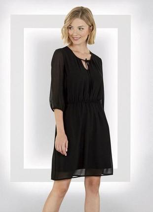 Платье женское шифоновое черное esmara германия р.  48-50