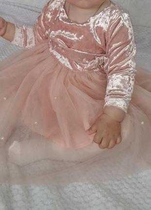 Платье нарядное на девочку 1 годик