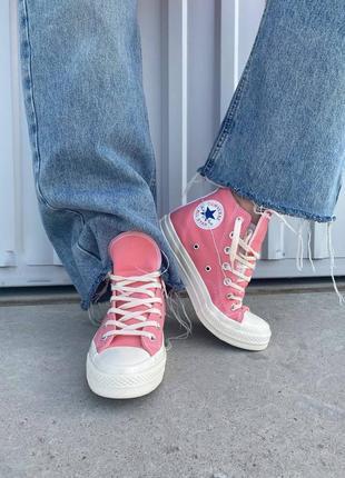 Кросівки converse comme des garçons hight pink ( premium ) кроссовки