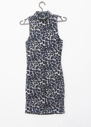 Летнее трикотажное платье из хлопка