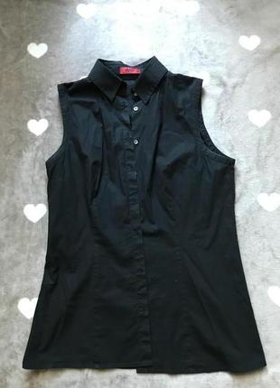 Женская чёрная рубашка
