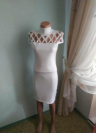 Белое лёгкое платье 👗👗👗