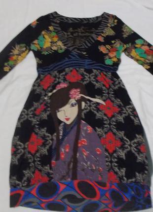 Стильное яркое платье креативного бренда  desigual.