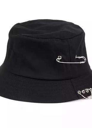 Крутая хлопковая панама стимпанк черная тренд панамка хлопок шляпа