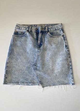 New look джинсовая юбка варёнка