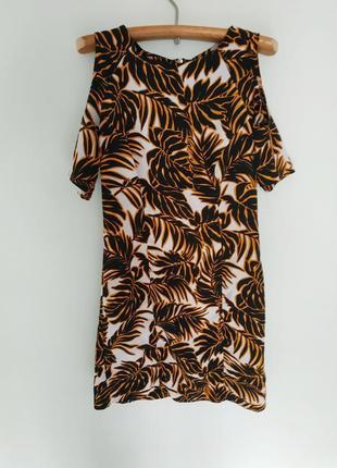 Сукня міні в принт джунглі