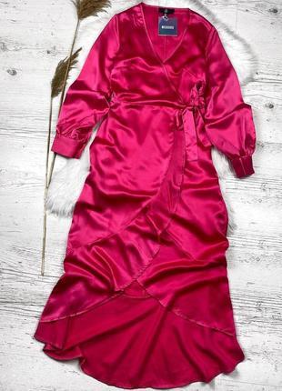 Платье миди цвета фуксия от missguided / сукня міді фуксія