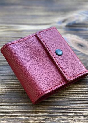 Женский кошелек из кожи красного цвета
