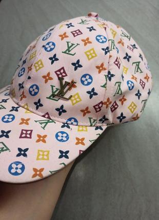 Кепка текстильная louis vuitton с принтом. обхват головы 58 см. регулируется.