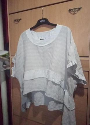 Итальянская блуза из смеси льна