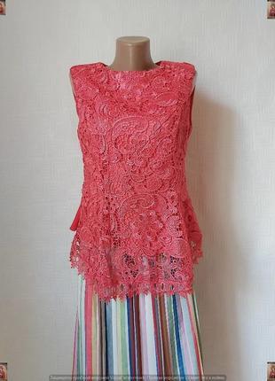 Нарядная красивая блуза по фигуре спереди с очень дорого кружева, размер л-ка