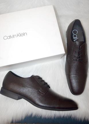 Кожаные оксфорды туфли calvin klein langston 13us 47 размер доставка