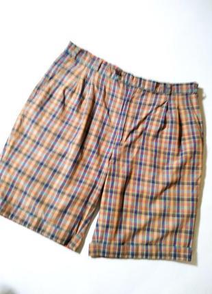 Легкие мужские коттоновые шорты в клетку от mcgregor