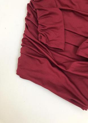 Платье oh polly цвет марсала,  трендовое платье со сборкой на попе,  платье новое с бирками💕4 фото