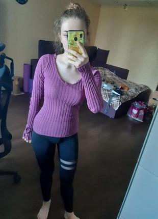 Фиолетовая кофта sela