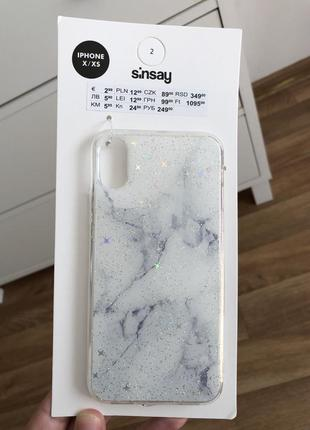 Чехол новый sinsay iphone x/xs
