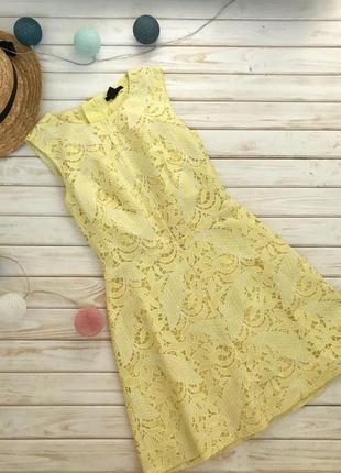 Шикарное желтое платье h&m