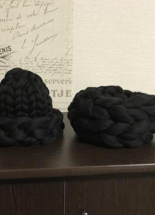 Комплект. шапка из мериноса хельсинки со снудом