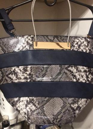 Большая сумка с змеиным принтом
