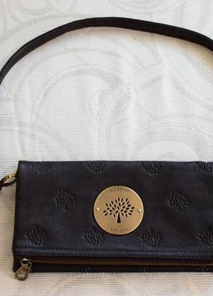 Кожаная сумка, клатч mulberry