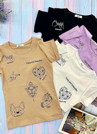 Total sale!очень крутые трикотажные футболки 🌸 (листай)