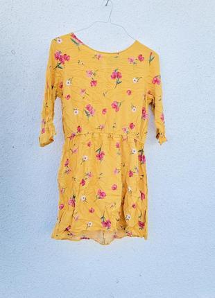 Платье в цветочек стильное хлопок вискоза