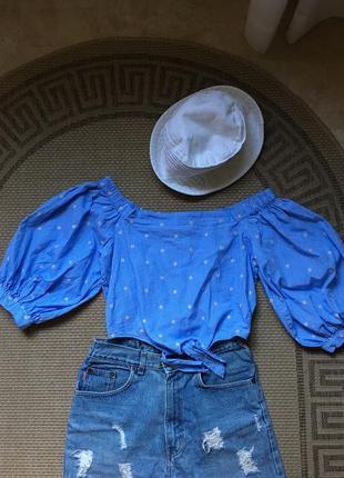 Блуза топ кофточка с рукавами буфами объемный рукав