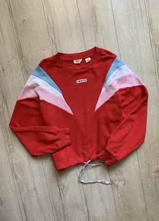 Красный свитшот кофта levi`s