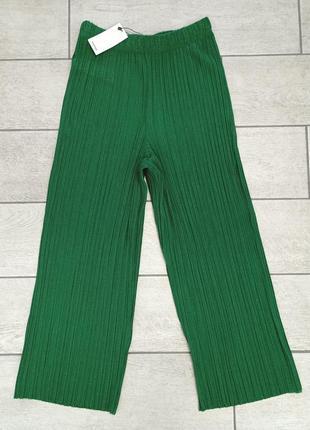 Плиссированные брюки кюлоты mango - s, m, l, xl7 фото