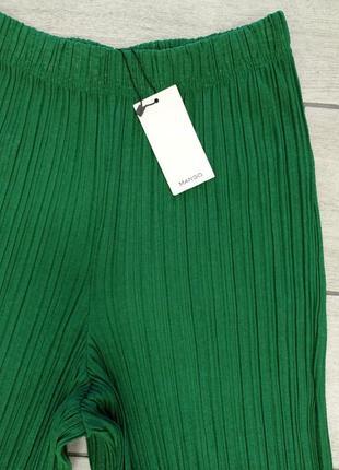 Плиссированные брюки кюлоты mango - s, m, l, xl9 фото