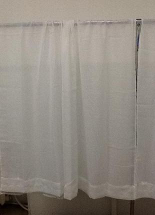 Белые красивые шторы 2 штуки