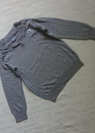 Интересный свитерок/трикотажная кофточка kiki&koko/джемпер 100%хлопок 5л1 фото