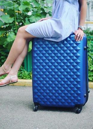 Большой чемодан ромбик ,польша оригинал! самовывоз,