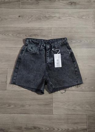 Скидка новые графитовые джинсовые шорты