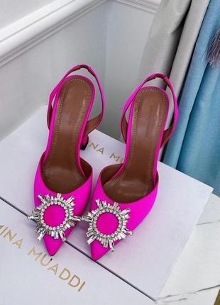 Роскошные туфли в стиле амина муадди муади amina muaddi. доставка 10-14 дней.