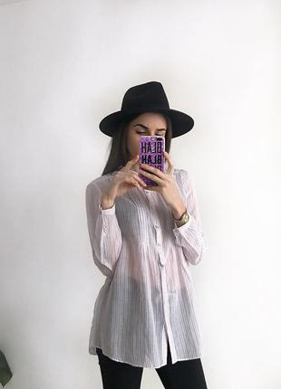 Сорочка рубаха рубашка блуза в полоску s