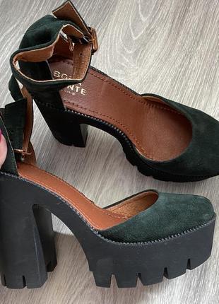 Изумрудные туфли в идеальном состоянии р 39. новые