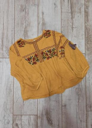 Шикарная вышиванка блуза рубашка в этно стиле