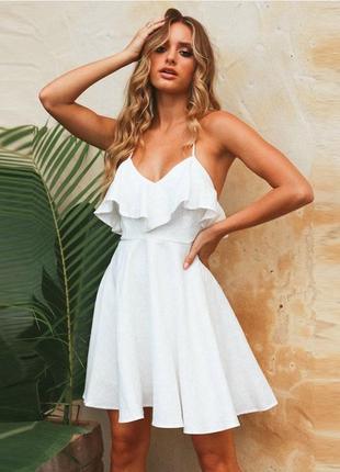 Платье сарафан с v-вырезом и открытой спинкой 🌹