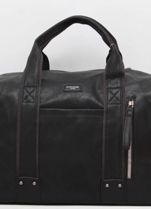 Качественная дорожная сумка-саквояж из экокожи david jones 100 % ручная кладь