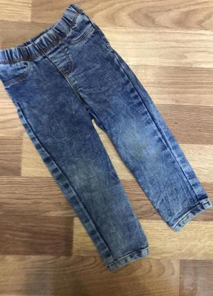 Детские штаны джинсы скинны на девочку