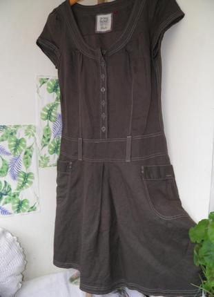 Льняное платье женское платье для жаркого лета